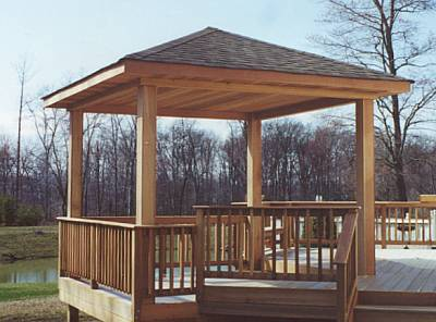 Pictures of gazebos gazebo builders custom porches and for Decks and gazebos