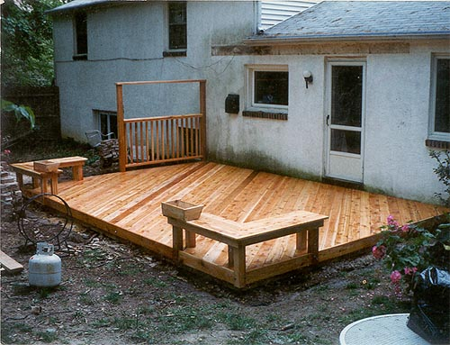 Ground level decks pa deck builders and patio contractors for Ground floor balcony design