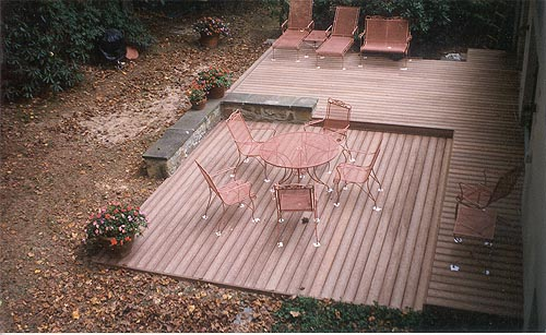 how to build a composite deck on the ground