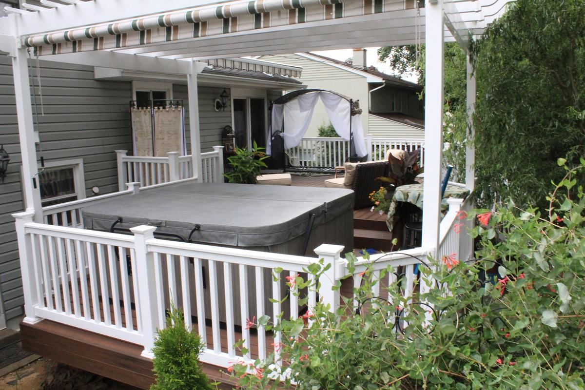 Hot Tub Decks Montgomery County Custom Decks With Hot
